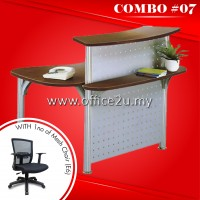 COMBO SPECIALS #7 : RC-001 RECEPTION COUNTER + 1NO OF E6 MESH CHAIR