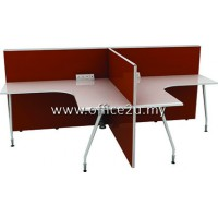 WS-F2 TWO SEATERS WORKSTATION